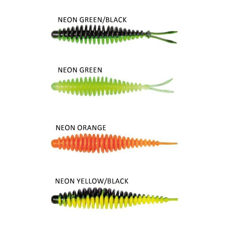 QUANTUM MAGIC TROUT T-WORM V-TAIL CHILI/CHEESE 1,5G